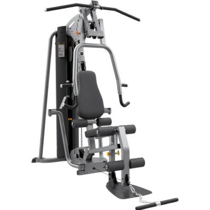 Multi-gym machine showing variety of exercises