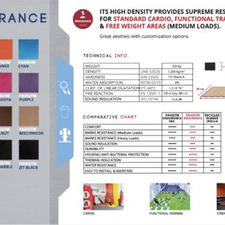 Pavigym datasheet showing colours