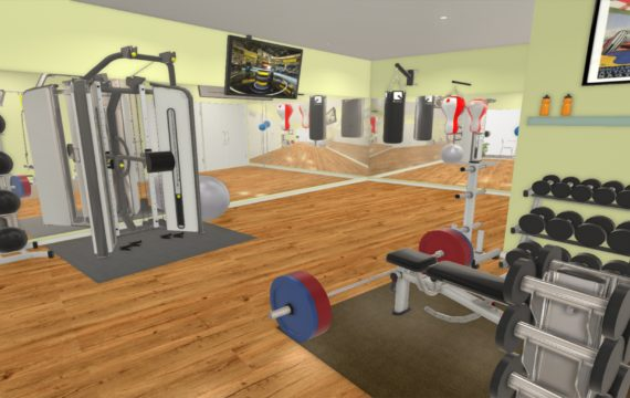 Home gym design and compact equipment