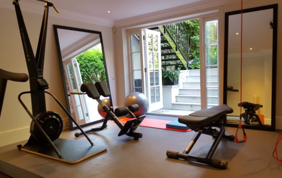 Home gym design london