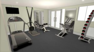 Treadmill-Rower-benches-freeweights-for-a-home gym