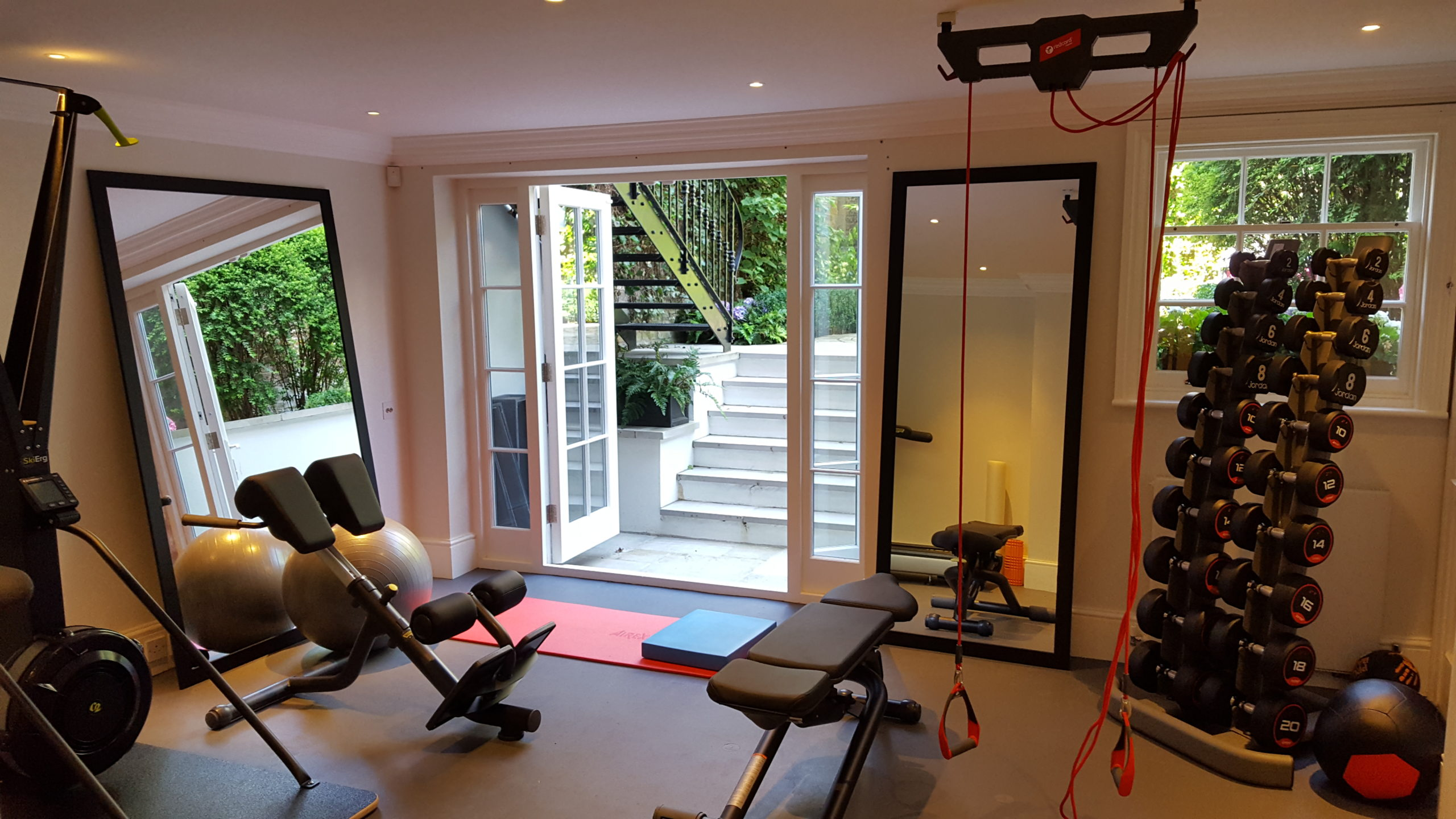 home gym set up